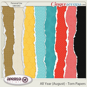 All Year {August} - Torn Papers