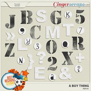 A Boy Thing Alphas by JB Studio