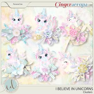 I Believe In Unicorns Clusters by Ilonka's Designs