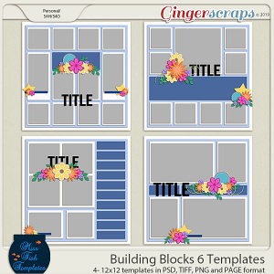 Building Blocks 6 Templates by Miss Fish