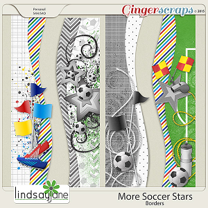 More Soccer Stars Borders by Lindsay Jane