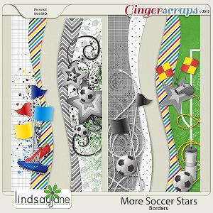 More Soccer Stars Borders by Lindsay Jane