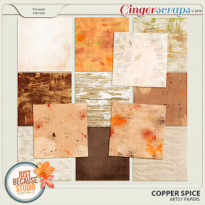 Copper Spice Artsy Papers by JB Studio