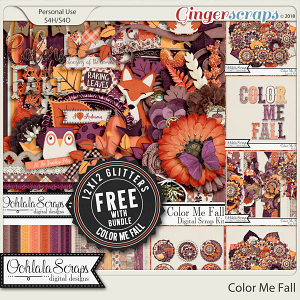 Color Me Fall Digital Scrapbook Bundle