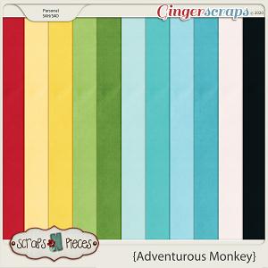 Adventurous Monkey Cardstocks by Scraps N Pieces