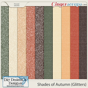Shades of Autumn {Glitter Papers} by Day Dreams 'n Designs