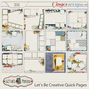 Let's Be Creative Quick Pages by Scraps N Pieces