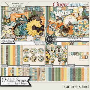 Summers End Digital Scrapbooking Bundle