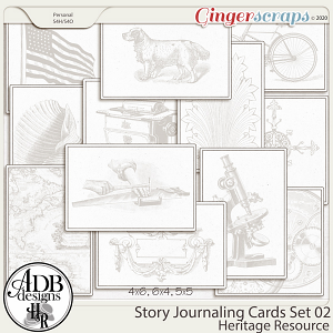 Heritage Resource Story Journaling Cards Set 02 by ADB Designs