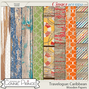 Travelogue Caribbean - Wooden Papers by Connie Prince