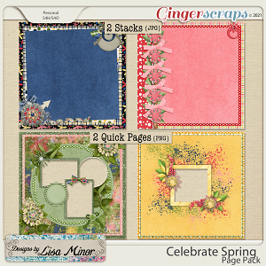 Celebrate Spring Page Pack from Designs by Lisa Minor