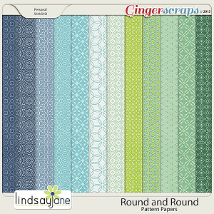 Round and Round Pattern Papers by Lindsay Jane