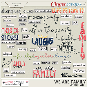 We Are Family  Word Art - by Neia Scraps
