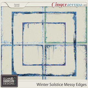 Winter Solstice Messy Edges by Aimee Harrison
