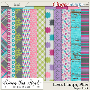 Live. Laugh. Play Paper Pack