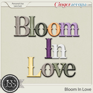 Bloom In Love Alphabets