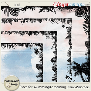 Place for swimming&dreaming Stamps&Borders