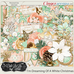I'm Dreaming Of A White Christmas Digital Scrapbooking Kit