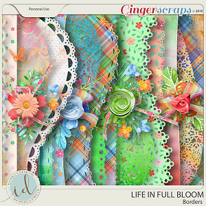 Life In Full Bloom Borders by Ilonka's Designs