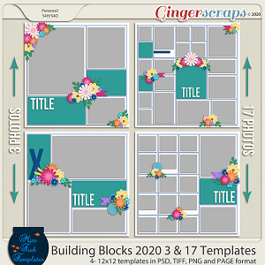 Building Blocks 2020 3 and 17 Templates by Miss Fish