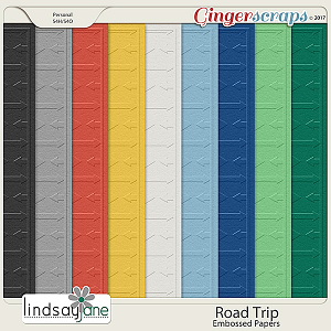 Road Trip Embossed Papers by Lindsay Jane