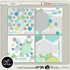 Craft ❤ Templates Capture It Baby´s First
