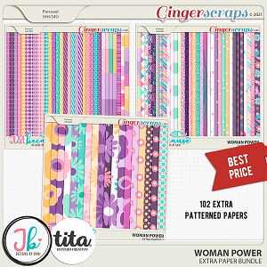 Woman Power Extra Paper Bundle by JB Studio and Tita