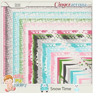 Snow Time Messy Borders