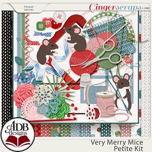 Very Merry Mice Petite Kit by ADB Designs