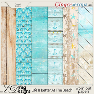 Life Is Better At The Beach: Worn Out Papers by LDragDesigns