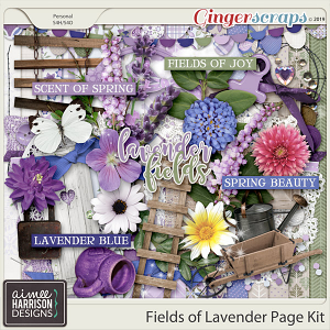 Fields of Lavender Page Kit by Aimee Harrison