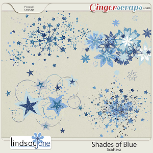 Shades of Blue Scatterz by Lindsay Jane