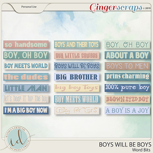 Boys Will Be Boys Word Bits by Ilonka's Designs