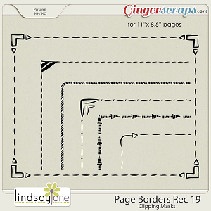 Page Borders Rec 19 by Lindsay Jane