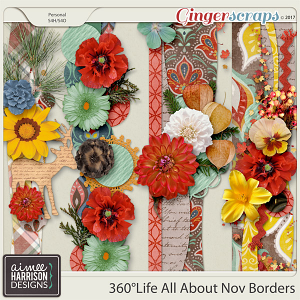360°Life All About November Borders by Aimee Harrison