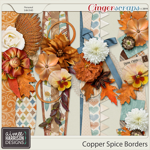 Copper Spice Borders by Aimee Harrison