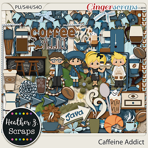 Caffeine Addict KIT by Heather Z Scraps