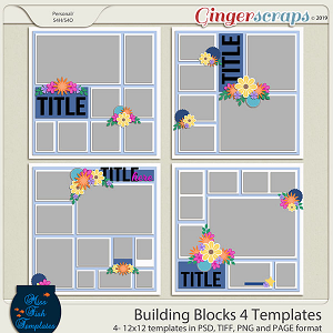 Building Blocks 4 Templates by Miss Fish