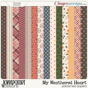 My Weathered Heart {Patterned Papers}