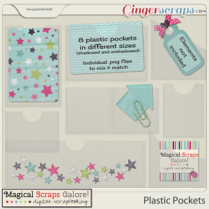 Plastic Pockets by Magical Scraps Galore