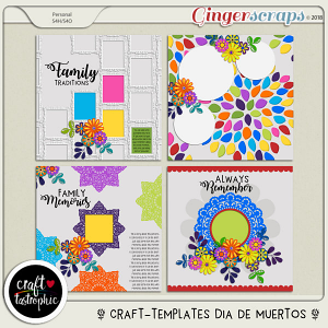 Craft-Templates Dia de Muertos