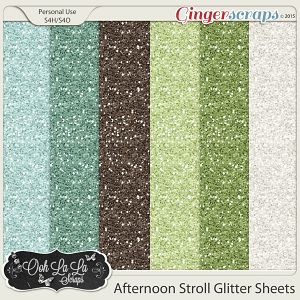 Afternoon Stroll Glitter Sheets