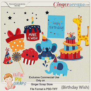 CU-Birthday Wish Layered Templates By Cutie Pie Scraps