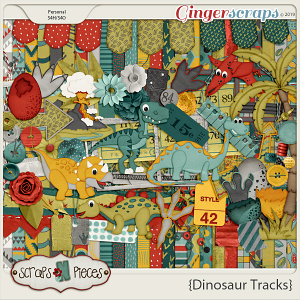 Dinosaur Tracks kit by Scraps N Pieces