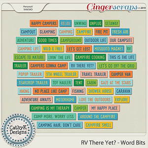 RV There Yet - Word Strips by CathyK Designs