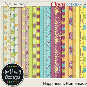 Happiness is Homemade PAPERS by Heather Z Scraps