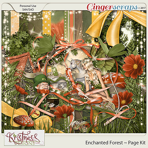 Enchanted Forest Page Kit