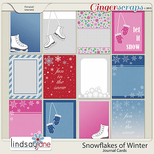 Snowflakes of Winter Journal Cards by Lindsay Jane