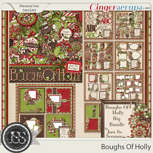 Boughs Of Holly Digital Scrapbooking Collection