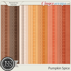 Pumpkin Spice Pattern Papers